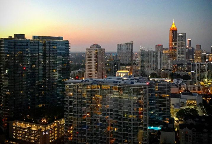 View from North American Properties managing partner Mark Toro's balcony at The Four Seasons in Midtown Atlanta