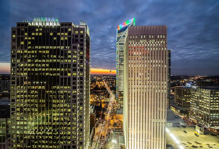 The view from The Spectrum Companies' 300 South Tryon in Charlotte