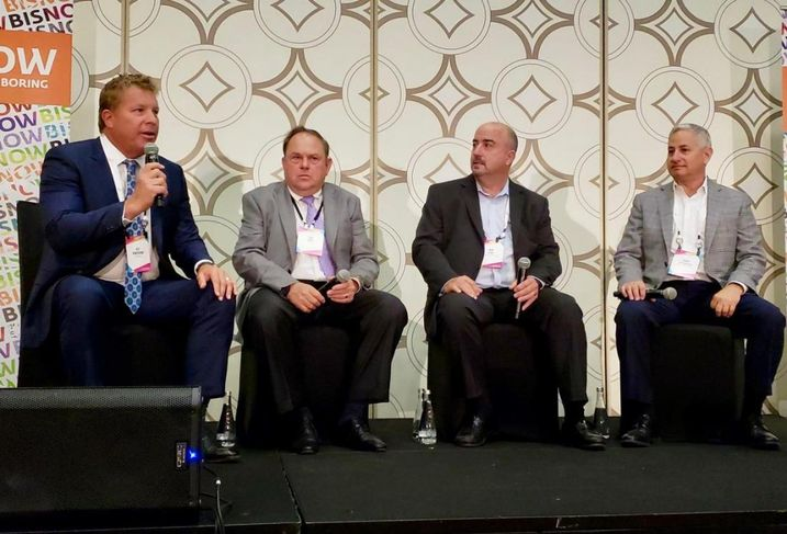 Berkadia Managing Director Jeff Rowerdink, TruAmerica CEO Bob Hart, Essex Property Trust Chief Investment Officer John Eudy and Equity Residential Executive Vice President Barry S. Altshuler.