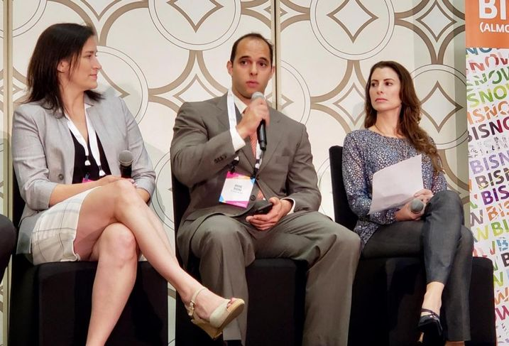 The Pacific Cos.' Mindy Rex,  Bueno Group's Andre Bueno and Align Finance Partners' Dani Evanson discuss affordable housing at BMAC SoCal at the JW Marriott in Los Angeles.
