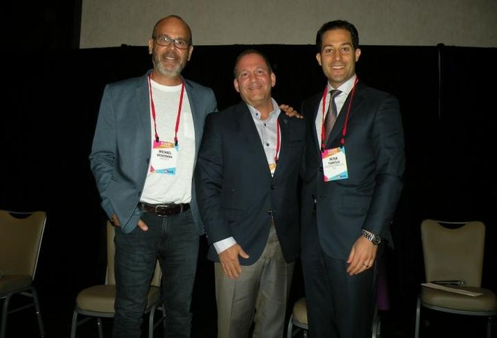 CREtech founder and CEO Michael Beckerman, Newmark Knigh Frank Executive Managing Director Geoff Kasselman and Liston & Tsantillis Partner Peter Tsantillis