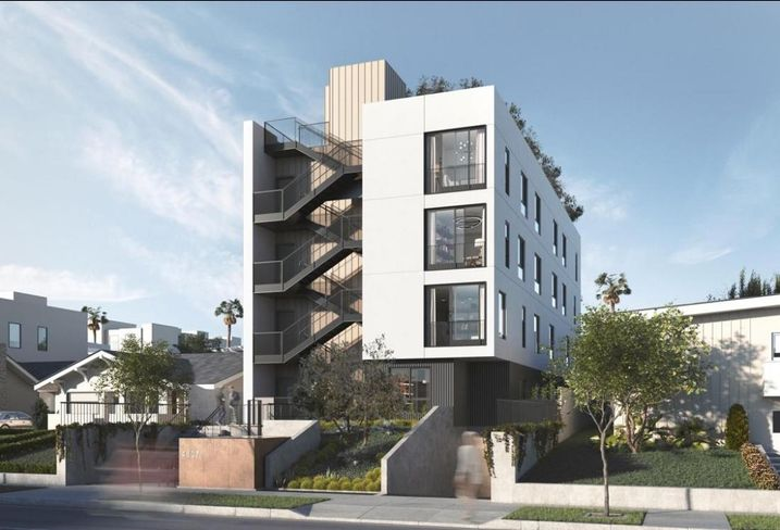 The 13-unit on Elmwood will feature a Tetris-like automated parking system.