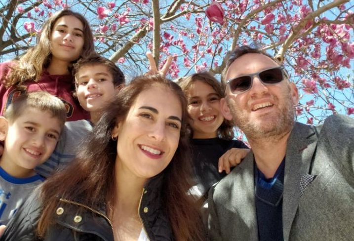 HAP Investments co-founder and CEO Eran Polack, his wife, Idit, and their children.