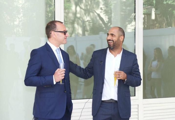 HAP Investments founders Eran Polack and Amir Ansel at the 329 Pleasant Ave. Ribbon Cutting in NY