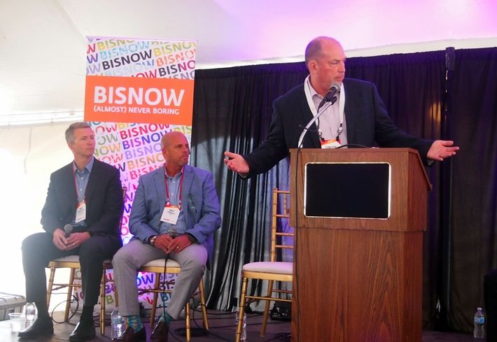 Mortenson Construction , General Manager Andy Stapleton, QTS Executive Vice President Property Development Matt Tyndall, and AHA Consulting Engineers Managing Partner Conleth O'Flynn, who moderated.