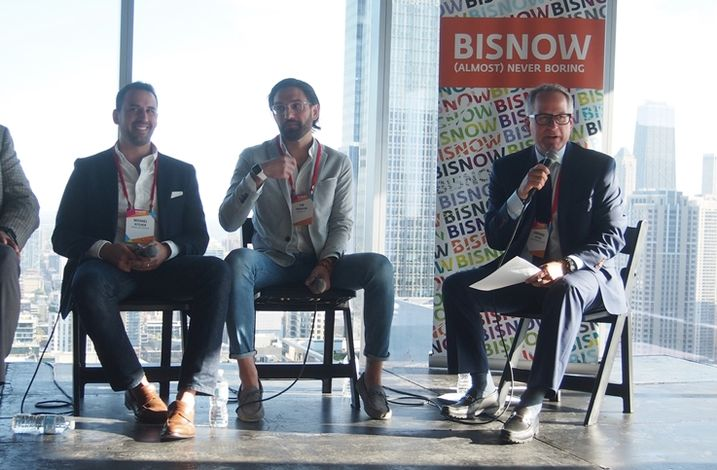 Aparium Group Vice President Michael Kitchen, Skender Chief Design Officer Tim Swanson, and Sheppard Mullin Partner Lawrence Epply, who moderated.