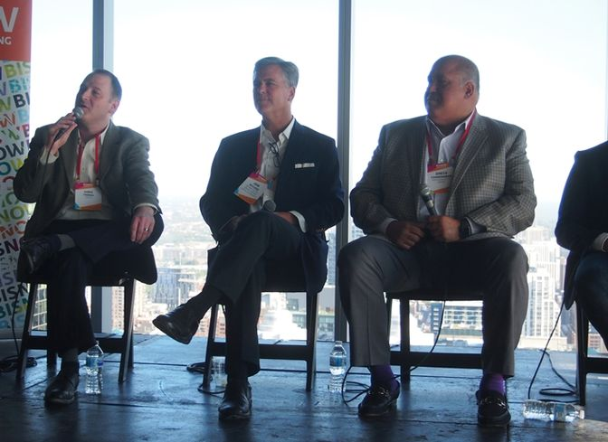 SOLiD Sales Manager, North Central Chris Thomas, Oxford Capital Group and Oxford Hotels & Resorts President and CEO John Rutledge, and Radisson Hotel Group Vice President Development Dinesh Chandiramani.