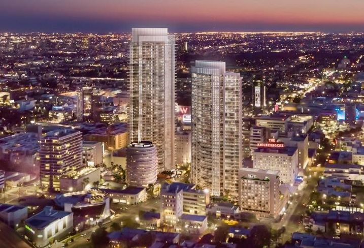 Rendering of the Los Angeles MP Hollywood Center
