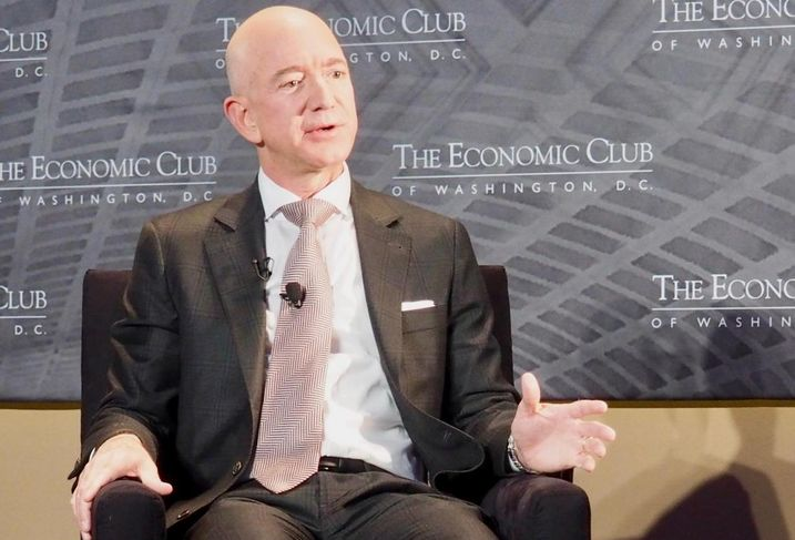 Amazon CEO Jeff Bezos speaking to The Economic Club of Washington D.C.