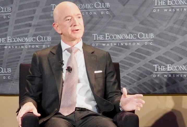 Amazon CEO Jeff Bezos speaking to The Economic Club of Washington D.C.