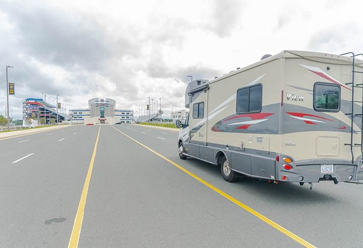 Charlotte Motor Speedway opened its Rock City Campground beginning at noon Tuesday for evacuees from Hurricane Florence. zMAX Dragway at the Charlotte Motor Speedway is seen in the background.