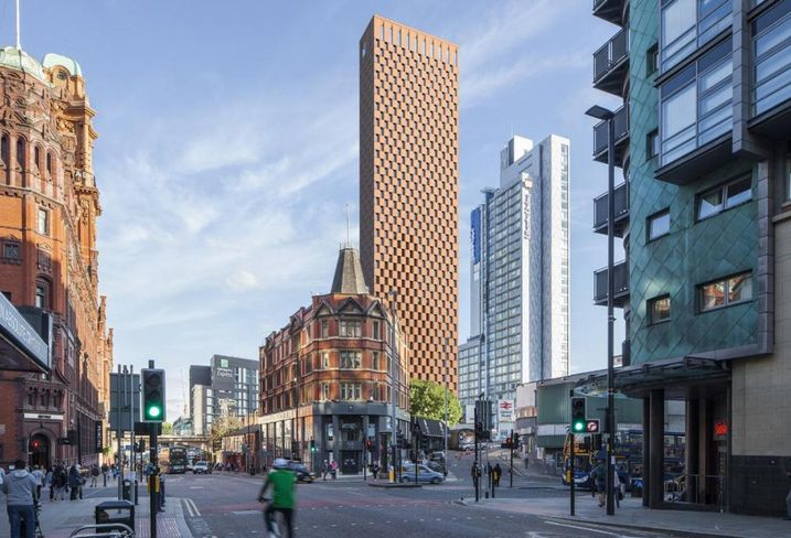 Plans to build a 55-storey high-end student accommodation skyscraper and a SME incubator in Manchester city centre have been revealed.  Specialist student housing developer Student Castle have put forward proposals for the Hulme Street scheme, which would also see an area of the existing multi-storey car park partially de-constructed to reconfigure the layout.  Featuring 850 studio apartments, the 165-metre tall purpose-built accommodation has been designed for undergraduate and postgraduate student