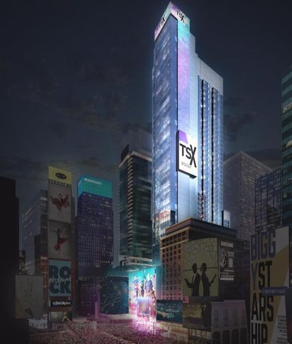 Rendering of the $2.5B TSX Broadway mixed-use project in New York City's Times Square
