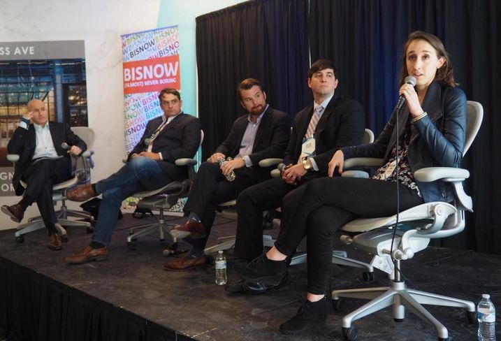 10Square's Mitchell Schear, MakeOffices' Zach Wade, Convene's Michael Burke, WorkReady Suites' Austin Flajser and Industrious' Anna Squires Levine