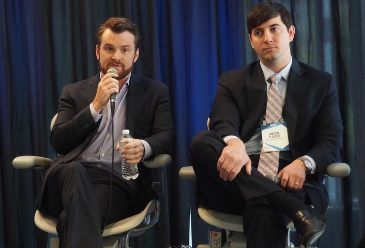 Convene's Michael Burke and WorkReady Suites' Austin Flasjer