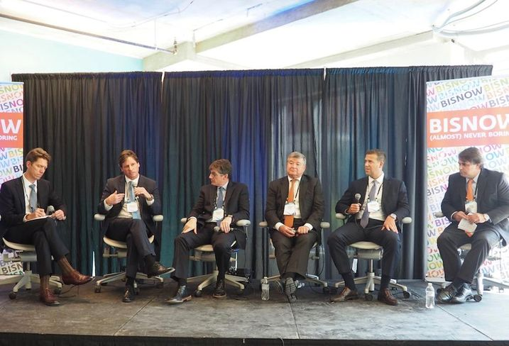 Skidmore, Owings & Merrill's Jason deChambeau, Cresa's William Tidwell, Hitt Contracting's Christian Zazzali, Republic Properties Corp.'s Steven Grigg, Savills Studley's Ben Plaisted and CSC's Mark Pirone