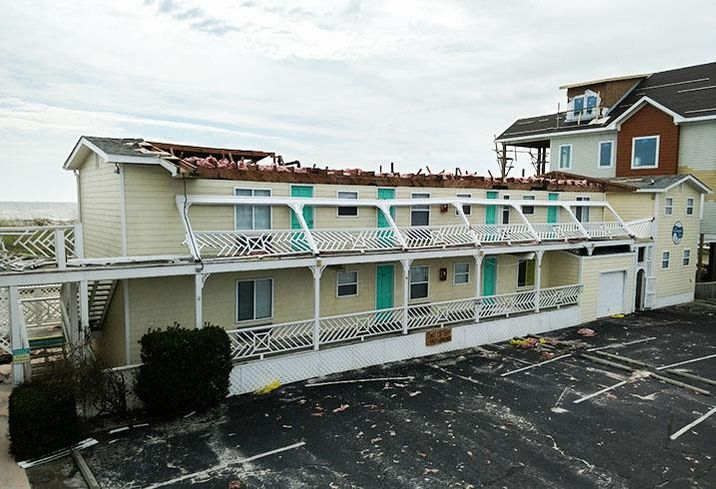 The Savannah Inn in Carolina Beach, N.C., suffered major damage after Hurricane Florence.