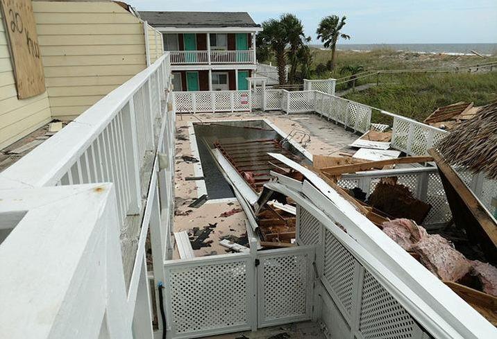 The Savannah Inn in Carolina Beach, N.C., after Hurricane Florence