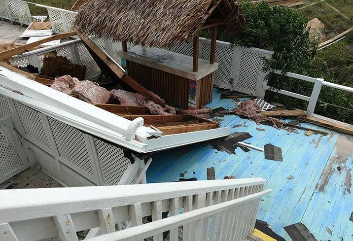 The Savannah Inn in Carolina Beach after Hurricane Florence