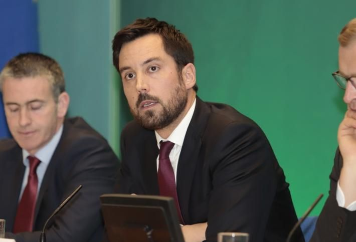 Minister for Housing Eoghan Murphy discussing Budget 2019