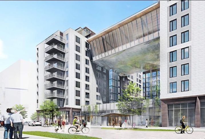 A rendering of the 348-unit project planned on The Yards Parcel I