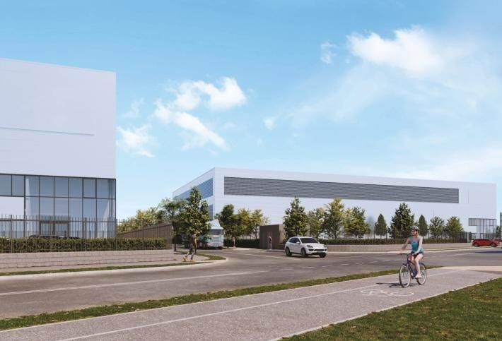 Artist's rendering of Park Developments Group's new logistics scheme at Northwest Business Park