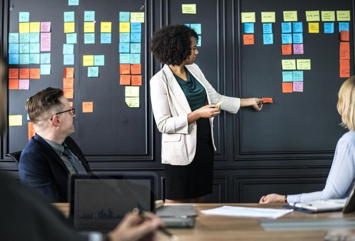 Woman board meeting