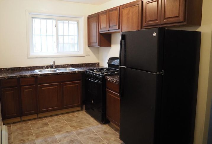 The kitchen in a three-bedroom unit at 4955 G St. SE