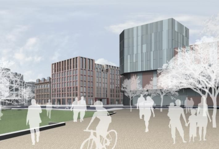 Artist's impression of The Sixth, the proposed redevelopment of the former home of the Belfast Telegraph