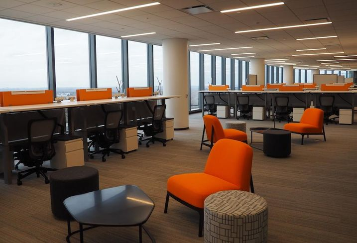 Capital One HQ workspace