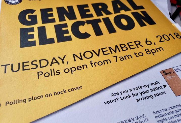 General Election sample ballot and voter information guide