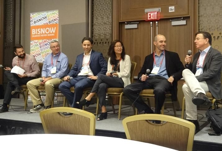 Creo Landscape Architects' Todd Lansing, Pankow's Wally Naylor, Lowney Architecture's Anthony Cataldo, Windflower Properties' Fei Tsen, HKS' Brendan Dunnigan and Panoramic Investments' Patrick Kennedy