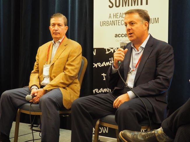 Feldman Equities CEO Larry Feldman and ZOM Living CEO Greg West
