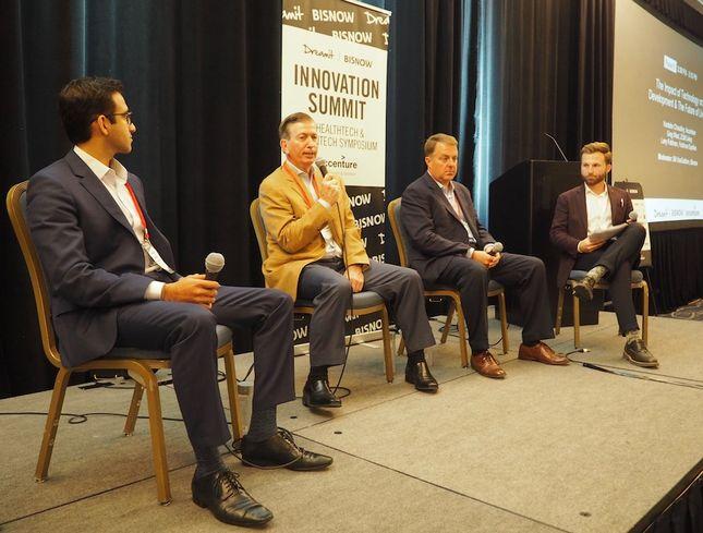 Accenture's Vardahn Chaudhry, Feldman Equities CEO Larry Feldman, ZOM Living CEO Greg West and Bisnow'sBill VanGeldren