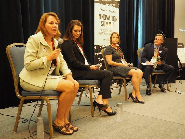 Tampa Downtown Partnership's Karen Kress, Hillsborough County Aviation Authority's Gina Evans, Kaizen Health's Mindi Knebel and Becker Lawyers' Gary Schaaf