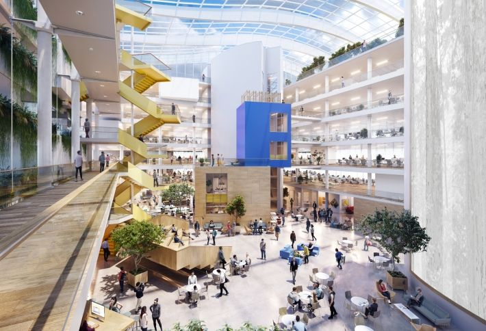Artist's rendering of the new Facebook campus in Ballsbridge
