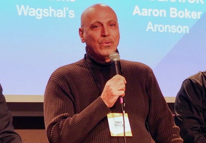 Busboys and Poets founder and CEO Andy Shallal at Bisnow's 2018 D.C. Metro Retail event at The Hamilton Live