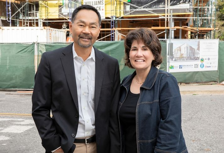 Palo Alto Housing President and CEO Randy Tsuda and board chairwoman Sheryl Klein