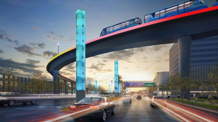 Rendering of the Automated People Mover System at Los Angeles International Airport