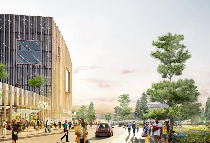 Rendering of retail possibilities at the Coliseum site