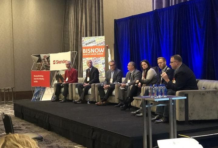 The Future of Healthcare Facilities session at Bisnow Healthcare event.