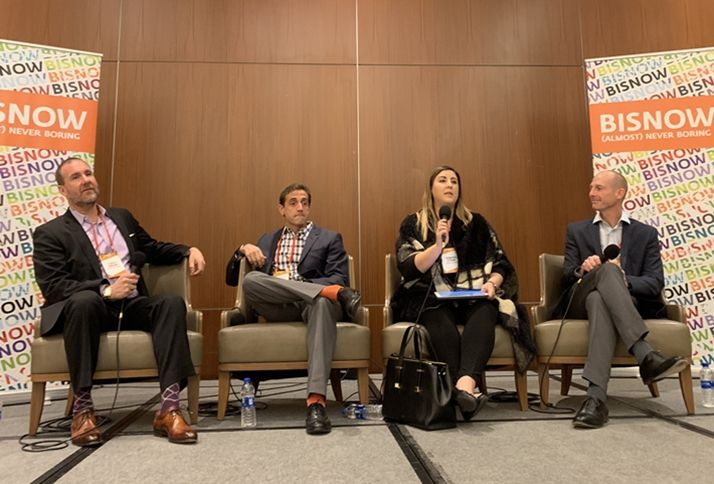 Gabhart Investments CEO Curtis Gabhart, who moderated, Meridian Capital Group Managing Director Seth Grossman, Housing on Merit Executive Director Jennifer Litwak and MG Properties Chief Investment Officer Paul Kaseburg.