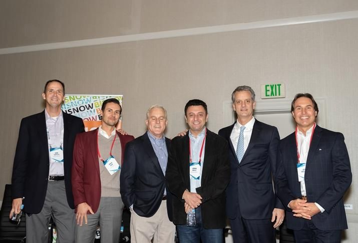 Former Infomart Data Centers President John Sheputis, H5 Data Centers' David Dunn, former Digital Realty Trust Chief Investment Officer Scott Peterson, Evocative Data Centers' Arman Kalili,  QTS' Clint Heiden and CBRE's Jerry Inguagiato, who moderated