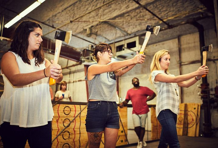 Competitive Ax-Throwing Facilities Spreading Rapidly In U.S. Cities