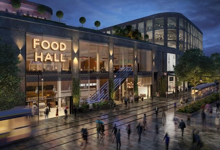 Artist's impression of Cherrywood Town Centre
