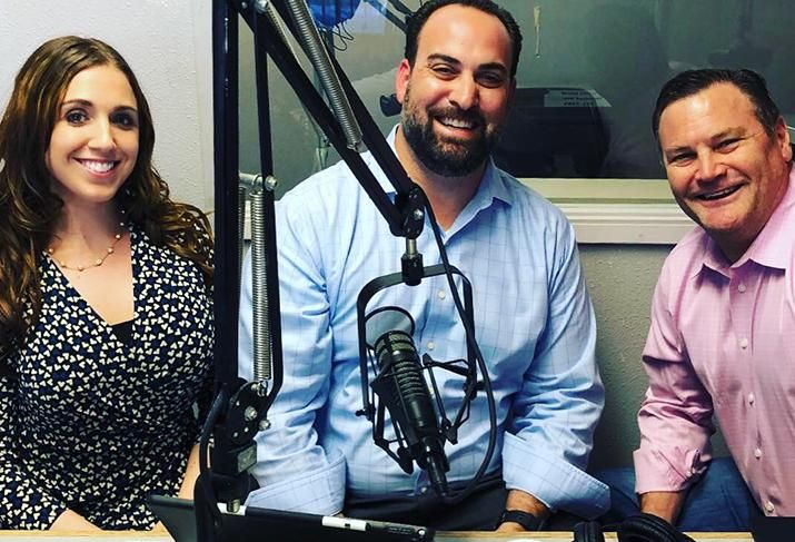 Natalie Wainwright Dan Palmeri, SIOR and Greg Johnson on the Morning Hustle with the VEGASCRETEAM
