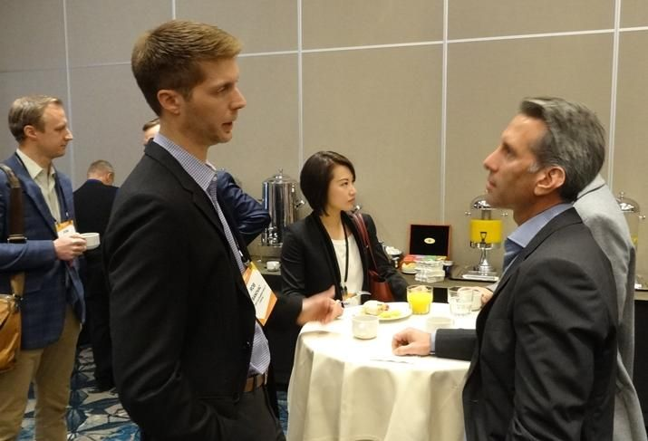 Attendees network at Bay Area Capital Markets and Real Estate Finance.