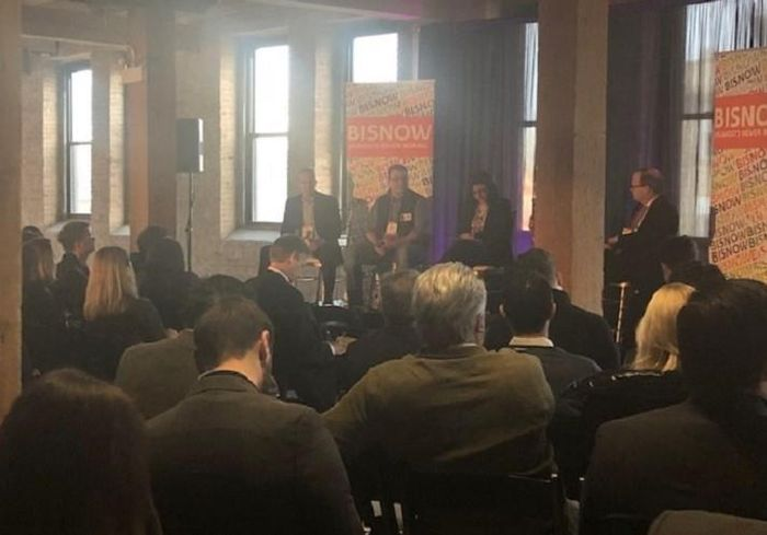 The first panel at Bisnow's Emerging neighborhoods event.