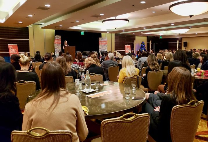 Allen Matkins' Julie Hoffman kicks off Bisnow's SoCal Power Women event Dec. 13 at the LA Grand Hotel in downtown Los Angeles.