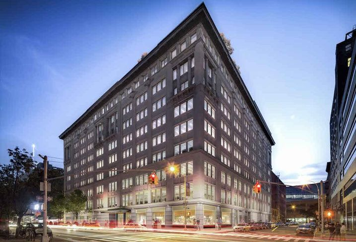 315 Hudson St., a former candy factory converted into tech company offices in Manhattan